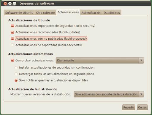 Ubuntu Lucid Proposed Repository