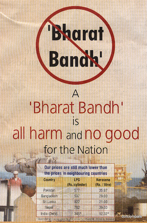 Say no to bandhs and hartals
