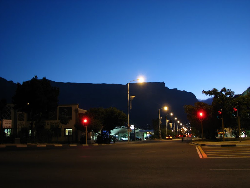 Table Mountain at night time