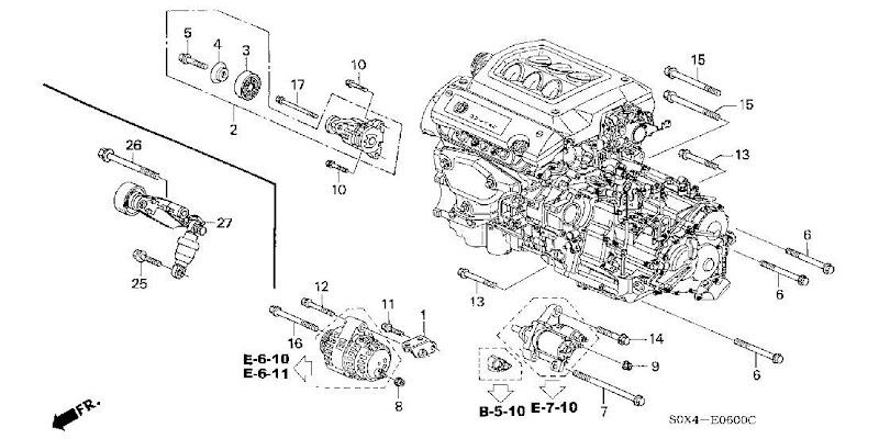 2002 Honda Odyssey Alternator Belt Diagram