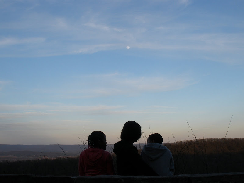 Moonrise at the top of Monte Sano in Huntsville