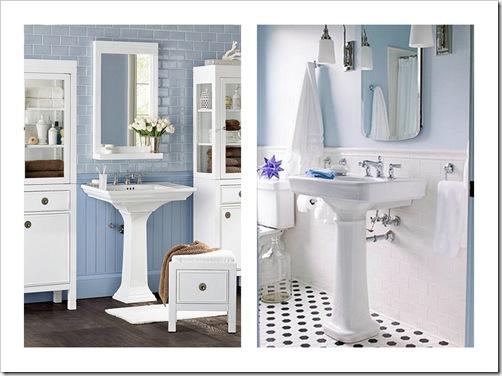 Shabby and Charme Un bagno nei toni del bianco e azzurro