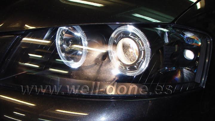 Audi A3 con Xenon welldone angel eyes LED
