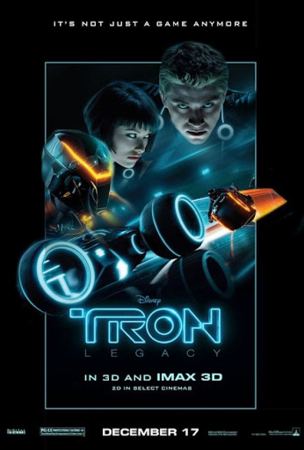 Tron legacy floating heads poster
