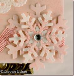 pink snowflake PI flake closeup
