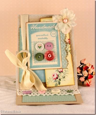 button btq easel card