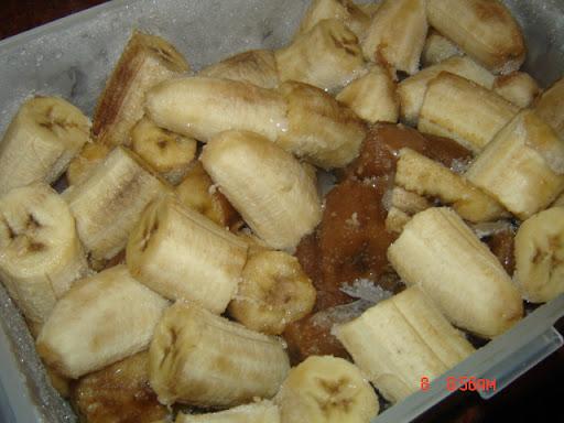 الموز المجمد