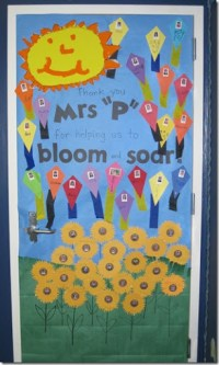 sunshine teacher appreciation door decorations | just b.CAUSE