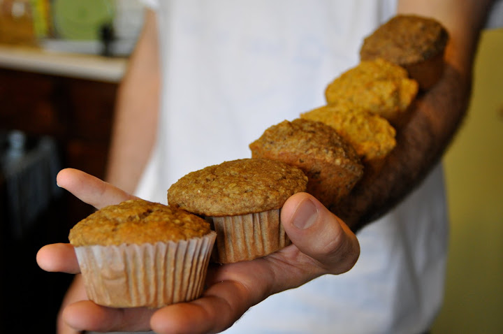 eric was told to take home as many muffins as he could carry on one arm