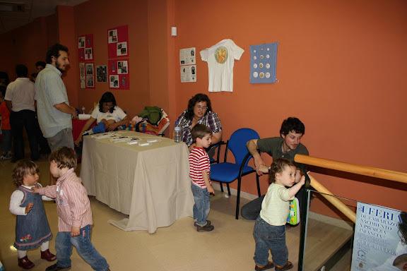 Otro momento en el stand de Red Canguro, con los niños como protagonistas.