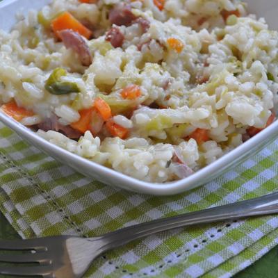 Cooketa-Rižot sa kupusom (Risotto con la verza)