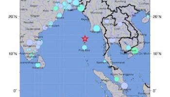 Andaman Island earthquake map