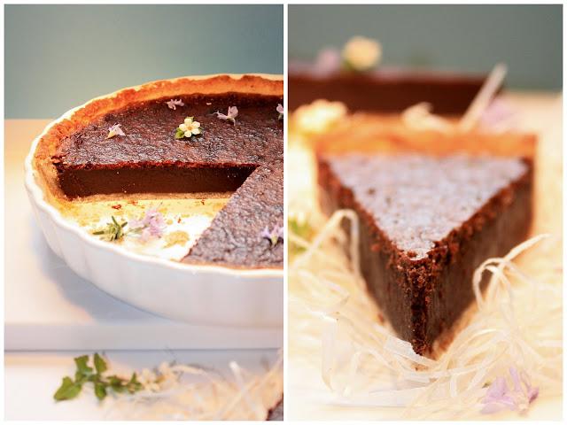 Pratos e Travessas Tarte de chocolate e noz  Food