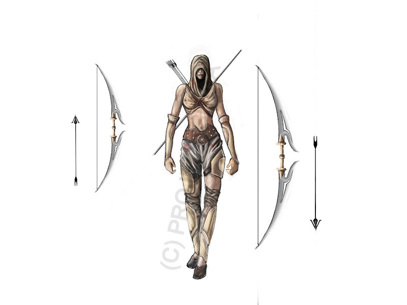 Varahi - Female Warrior Concept Sketch