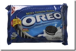 Nabisco Oreo. Images of store brand Oreo and Chips Ahoy knockoffs for Dollar Wise series. Shot November 17 2008.
