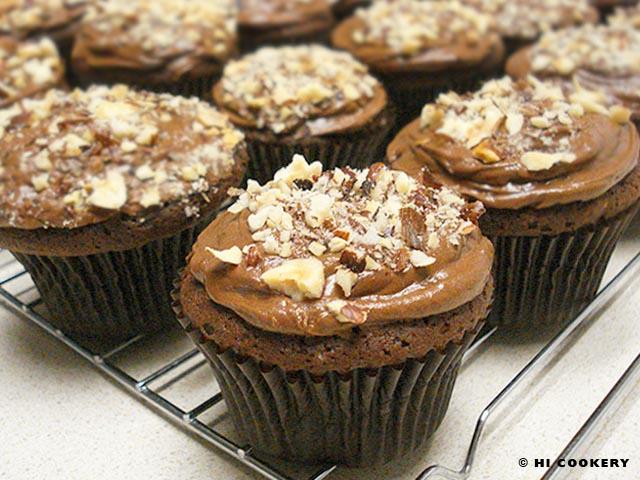 Frangelico Chocolate Cupcakes