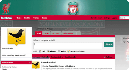 Theme for Facebook - Football - Liverpool