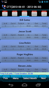 Call Time Tracker+Call Blocker screenshot 0