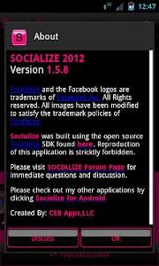 Pink Socialize for Facebook screenshot 3