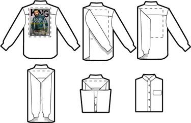 Como doblar una camisa para la maleta o el armario - Truco para doblar camisetas ...
