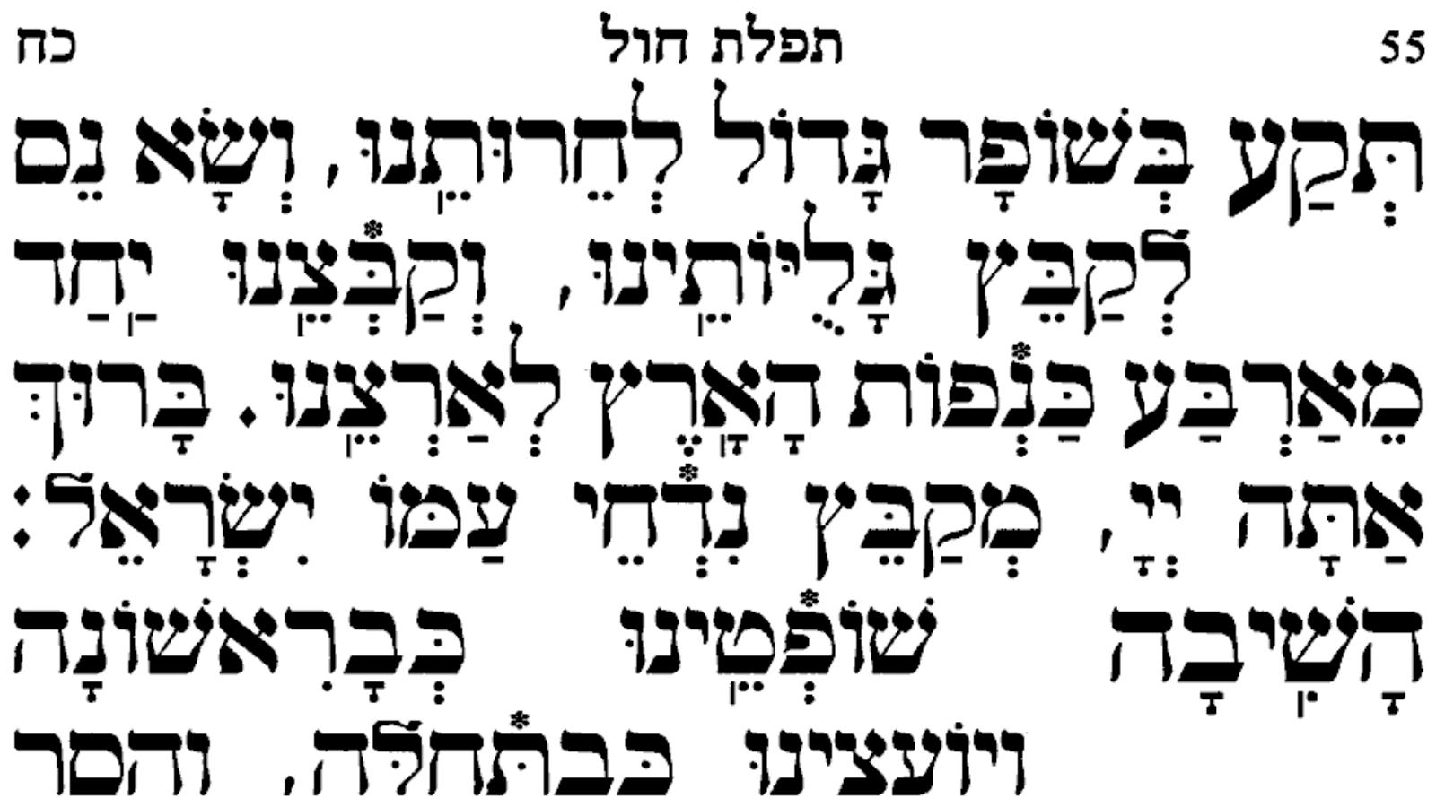 Sephardic weekday siddur text for microsoft word editable
