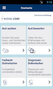 Weisse Liste Arztsuche screenshot 0