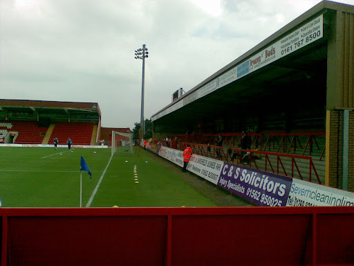 The terrace where the RDFC fans will stand, an hour before KO.