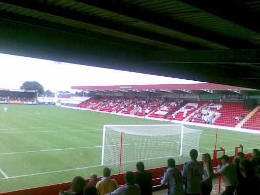 A couple of hundred Rushden fans...