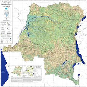 Carte générale de la République démocratique du Congo
