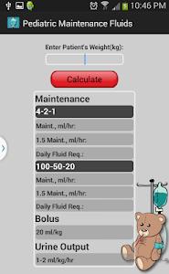 Pediatric Maintenance Fluids screenshot 0