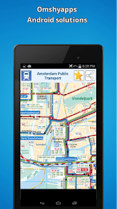 Amsterdam public transport map screenshot 7