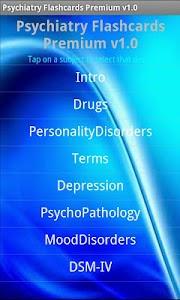 Psychiatry Flashcards Premium screenshot 0