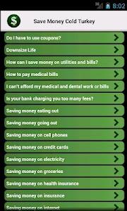 Save Money Cold Turkey screenshot 1