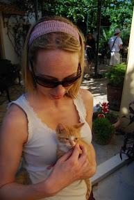 Corfu Greece Paleokastritsa monastery cat