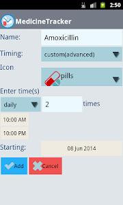 Medicine Tracker PRO screenshot 1