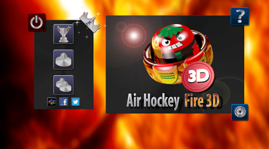 Air Hockey Fire 3D screenshot 0