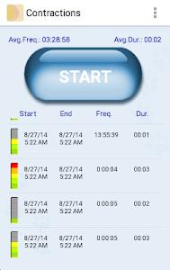 My Contractions Tracker screenshot 2