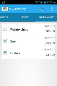 Event Expenses screenshot 2
