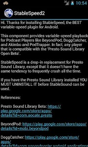 Stable Speed Library screenshot 0