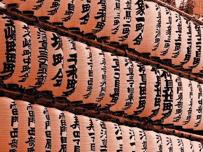 Farolillos en el templo de Asakusa