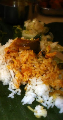 Steamed Rice With Vegetable Curry