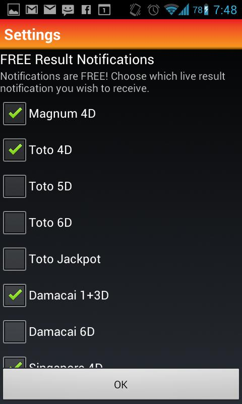 Damacai 6d jackpot result