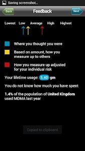 MDMA drugs meter screenshot 2