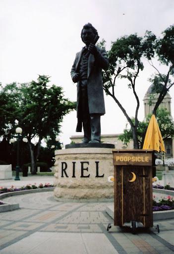 Louis Riel monument, Winnipeg, Canada