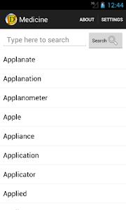 Arabic Medicine Dictionary screenshot 0