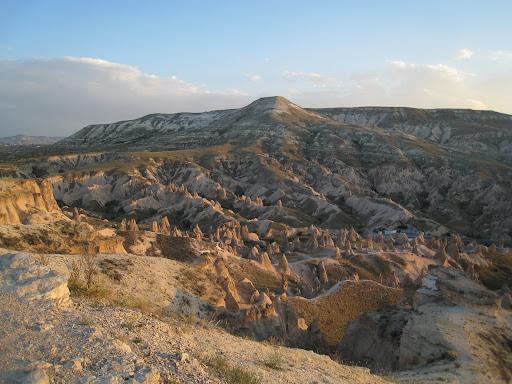 Cappadocian Landscape at Sunset