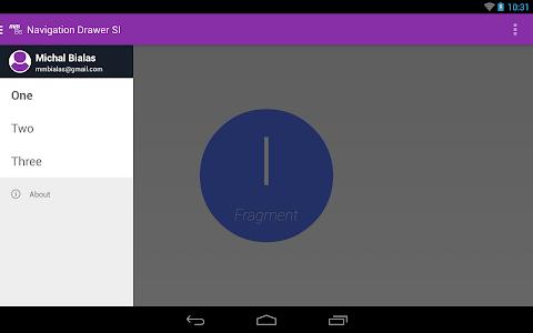 Navigation Drawer SI screenshot 5