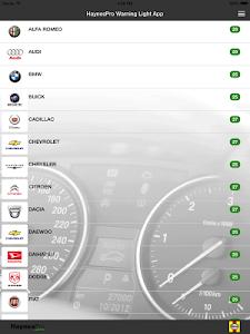 Capture d'écran 6 de l'application HaynesPro Warning Lights