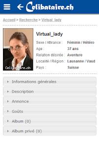 Rencontres Celibataire.ch screenshot 0