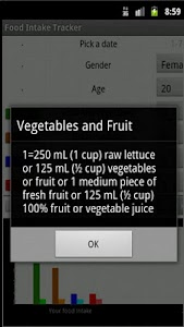 Food Intake Tracker screenshot 1